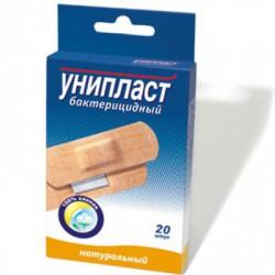 Лейкопластырь бактерицидный, Унипласт р. 1.9смx7.2см №20 натуральный