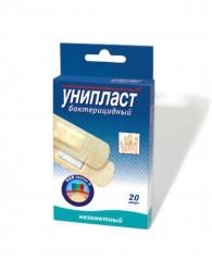 Лейкопластырь бактерицидный, Унипласт р. 1.9смx7.2см №20 незаметный