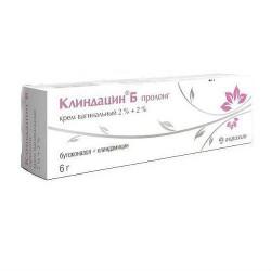 Клиндацин Б пролонг, крем ваг. 2%+2% 20 г №1 в комплекте с аппликатором - 3 шт.